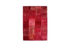 Dywan Obsession Naturline SPIRIT 550 RED 100% wełna ręcznie tkany PATCHWORK