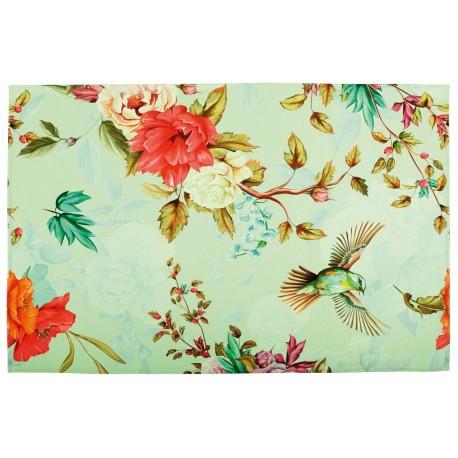 Dywan Obsession Home Fashion VENEZIA 352 MINT kolorowy nowoczesny rajski ogórd jak obraz poliester chenille