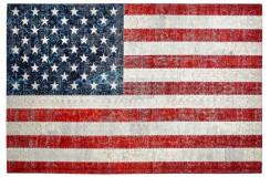 Dywan Obsession Home Fashion TORINO FLAGS 423 USA kolorowy flaga Stanów Zjednoczonych miękki poliester chenille