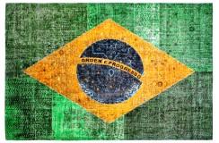 Dywan Obsession Home Fashion TORINO FLAGS 420 BRAZIL kolorowy flaga Brazylii miękki poliester chenille