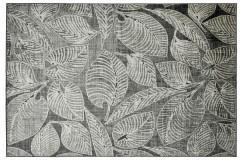 Dywan Obsession Home Fashion SWING 771 TAUPE 100% wiskoza szaro brązowy liście