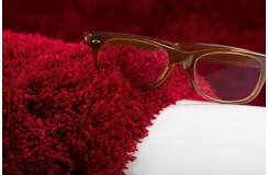 Dywan Obsession Home Fashion SANSIBAR SANZEE 650 BORDEAUX miękki shaggy bordowy skręcany poliester
