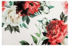 Dywany nowoczesne Obsession Home Fashion ROMANCE 210 WHITE sztuczne futerko soft poliester biały kolorowy kwiatowy design