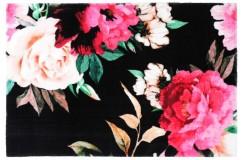 Dywany nowoczesne Obsession Home Fashion ROMANCE 210 BLACK sztuczne futerko soft poliester czarny kolorowy kwiatowy design