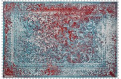 Dywan Obsession Home Fashion MILANO 574 TURQUOISE kolorowy perski wzór vintage miękki poliester chenille
