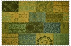 Dywan Obsession Home Fashion MILANO 571 GREEN zielony perski wzór vintage patchwork miękki poliester chenille