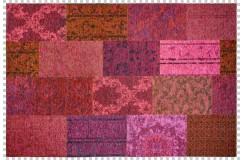 Dywan Obsession Home Fashion MILANO 571 FUCHSIA fuksja perski wzór vintage patchwork miękki poliester chenille