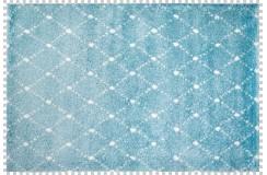 Dywan Obsession MANHATTAN 791 OCEAN niebieski nowoczesny shaggy