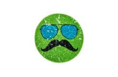 Dywan Obsession HIPSTER 611 GREEN ROUND dla dzieci nowoczesny polipropylen zielony okrągły