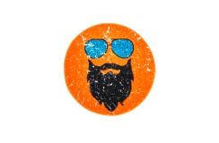 Dywan Obsession HIPSTER 612 ORANGE ROUND dla dzieci nowoczesny polipropylen pomarańczowy okrągły