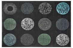 Dywan Obsession BRONX 541 ANTHRACITE nowoczesny grafitowy kolorowe koła polipropylen