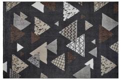 Dywan Obsession BRONX 542 ANTHRACITE nowoczesny grafitowy kolorowe trójkąty polipropylen