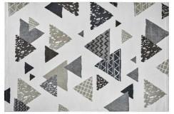 Dywan Obsession BRONX 542 WHITE nowoczesny biały kolorowe trójkąty polipropylen