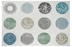 Dywan Obsession BRONX 541 WHITE nowoczesny biały kolorowe koła polipropylen