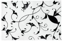 Dywan Obsession BLACK & WHITE 390 WHITE nowoczesny biały kwiaty czarne polipropylen