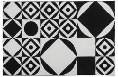 Dywan Obsession BLACK & WHITE 394 BLACK-WHITE nowoczesny biało-czarny geometryczny polipropylen