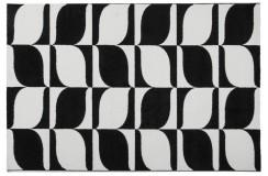 Dywan Obsession BLACK & WHITE 393 BLACK-WHITE nowoczesny biało-czarny geometryczny polipropylen
