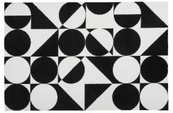 Dywan Obsession BLACK & WHITE 392 BLACK-WHITE nowoczesny biało-czarny geometryczny polipropylen