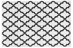 Dywan Obsession BLACK & WHITE 391 WHITE nowoczesny biało-czarny marokańska koniczyna polipropylen