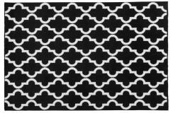Dywan Obsession BLACK & WHITE 391 BLACK nowoczesny czarny skandynawski marokańska koniczyna polipropylen