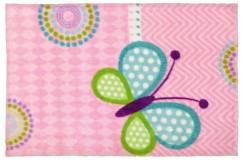 Dywany nowoczesne Obsession Kids Fashion LOLLIPOP 184 BUTTERFLY sztuczne futerko soft poliester motyl dla dziewczynki