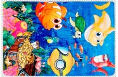 Dywany nowoczesne Obsession Kids Fashion FAIRY TALE 638 UNDER THE SEA flanelowy poliester miękki dla alergików rybki