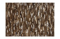 Nowoczesny dywan Lalee 100% skóra Patchwork 850 brown