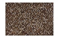 Nowoczesny dywan Lalee 100% skóra Patchwork 851 beige