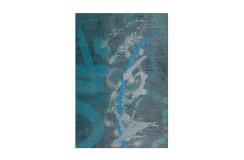 Dywan Atelier 4479 Blau / Türkis 70cm x 140cm miękki poliester chenille design abstrakcyjny