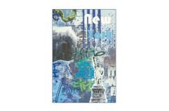 Dywan Flash 2703 Blau NYC 80x150cm kolorowy poliester szenil