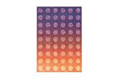 Dywan Flash 2706 Violett / Orange 120x170 cm kolorowy poliester szenil