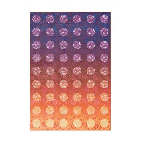Dywan Flash 2706 Violett / Orange 80x150cm kolorowy poliester szenil