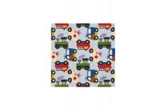 Dywan Joy 4109 Multi Cars 150x150cm dla dzieci kwadratowy