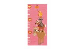 Dywan Joy 4168 Rosa Animals 75cm x 160cm dla dzieci