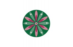 Dywan Joy 4184 Dunkelgrün / Rosa Ø 100cm RUND  okrągły dla dzieci