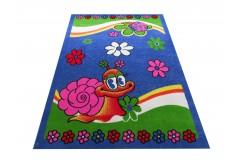 Dywan FLOWERS 01 - niebieski