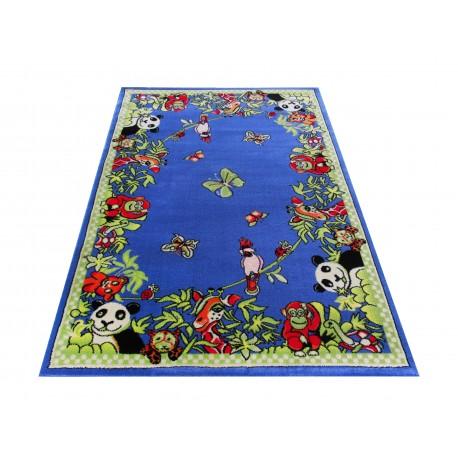 Dywan FLOWERS 13 - niebieski