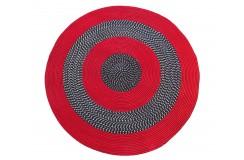 Dywan FLAT koło - czerwone