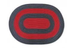 Dywan FLAT owalne - czerwone