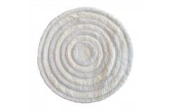 Dywan CIRCLES Biały 90 cm