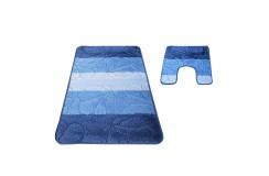 Dywan SOFTY 01 z wycięciem pod toaletę - niebieska